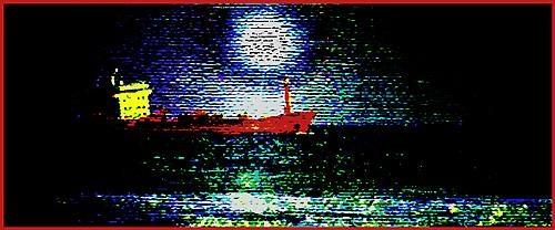 Ship at sundown by malleader