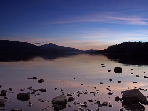 Sunset at Lake Bala by theyokel