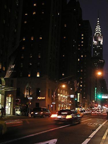 Chrysler Building at night by janehewitt