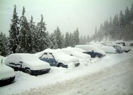 Snow, snow, thick...