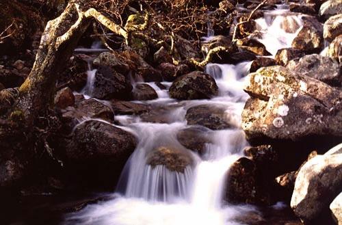 Glen Nevis Waterfall by julianevans