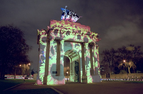 Wellington Arch Projection by duratorque