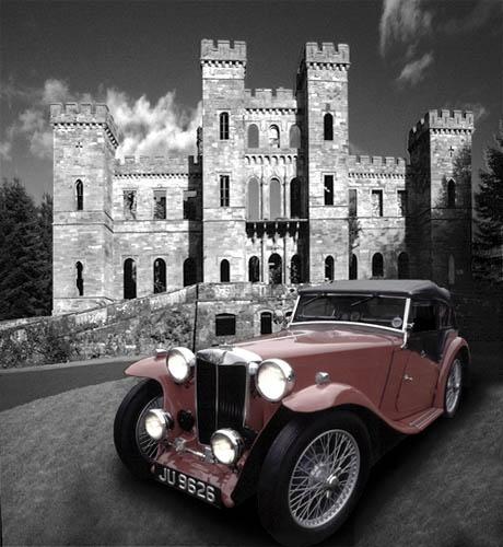 Car & Castle by scragend