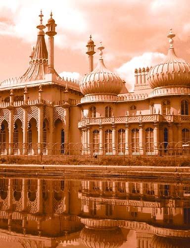 Brighton Pavilion by hedge