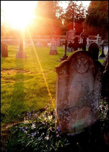 sundown in the graveyard by stevearm