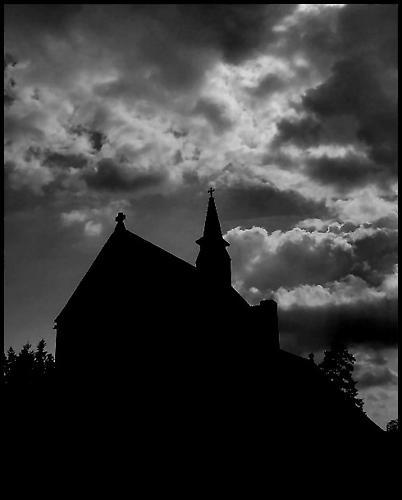 Church silhouette by stevearm