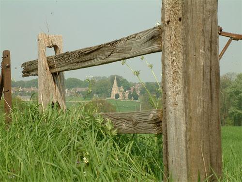 Fence in field by yteddie