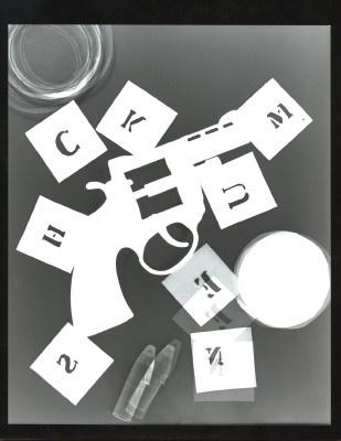 Recreating Man Ray\'s \'Gun With Alphabet Stencils\' by tomch22586