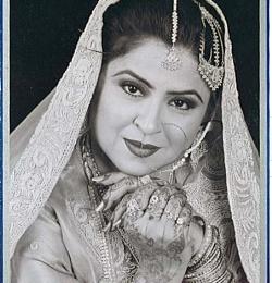 Bride in Black/white