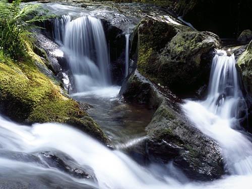 Waterfall - Nant Gwernol Ravine by saxon_image