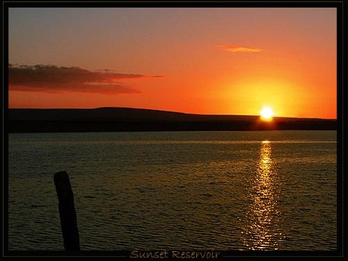 Sunset Reservoir by ga1963