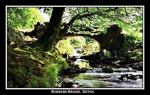 Robbers Bridge Devon by alison duckett
