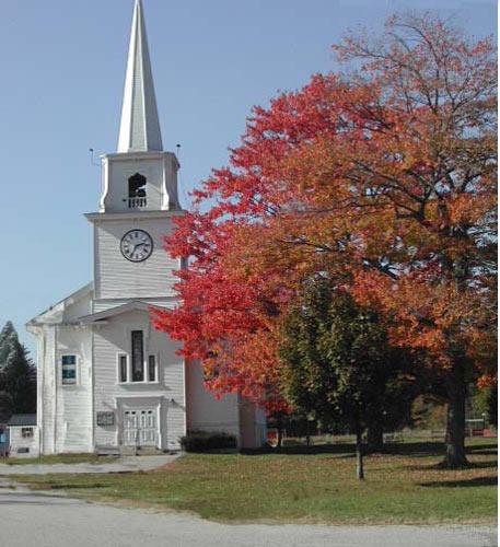 church in fall by 53  squirrel