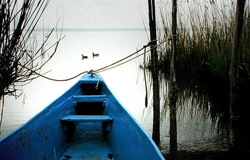 Blue Boat by david deveson