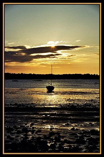 Sunset, Jaudy Estuary by alison duckett