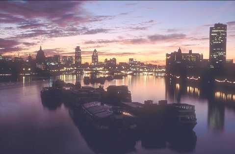 City of London dawn by rockpool