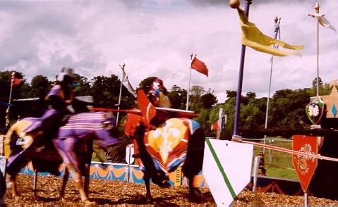 Jousting Knights of Powderham by conrad