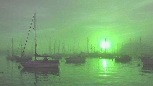 Emerald sunset by panda