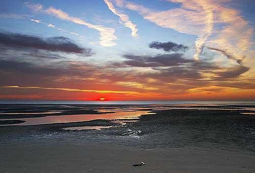 Low Tide, Low Sun by chris.maddock