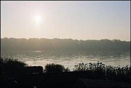 Sun rising on Niagara