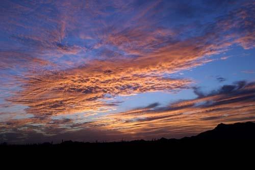 Sunset in the desert - Arizona by gipperdog