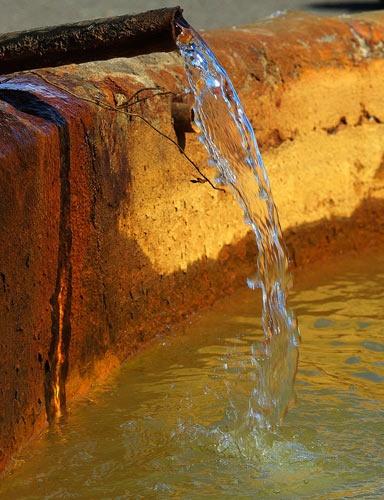 Water in a desert by joggievs