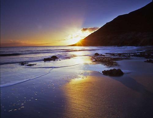 Mewslade Bay Sunset by willf1