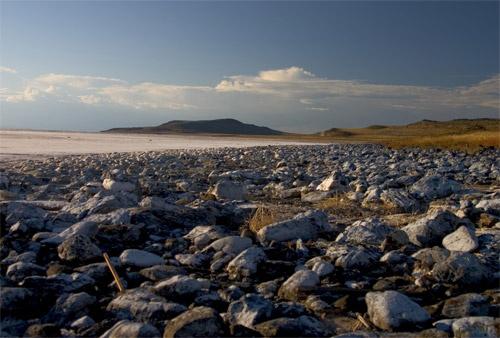 Great Salt Lake, Northern Tip by gajj