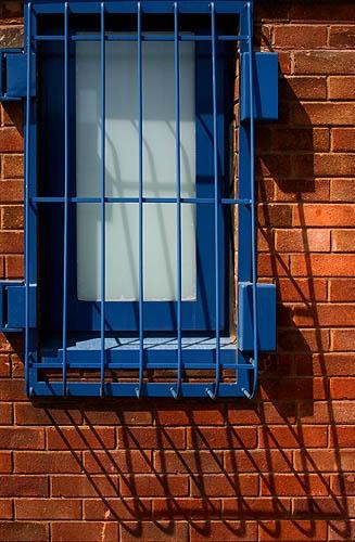 Blue Barred Window by ericfaragh