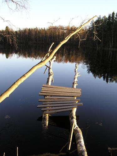 autumn lake by ojjo