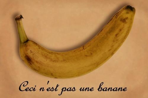 Ceci n\'est pas une banane by shaun