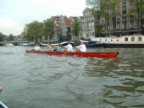 ROWING IN AMSTERDAM by reddee