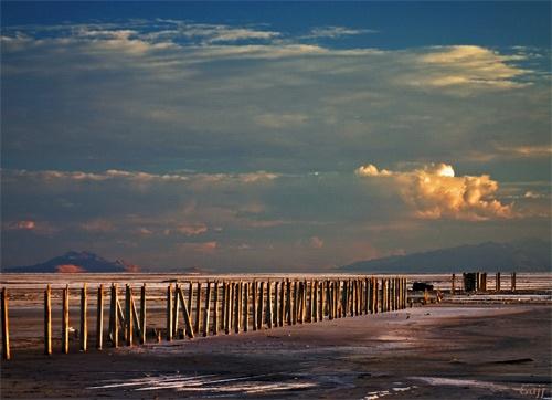 Sundown:  Desert Salt Flats by gajj