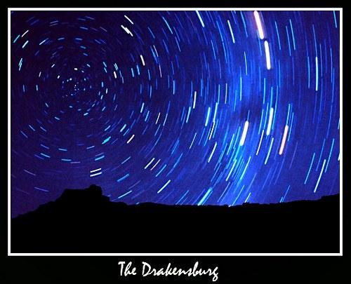 Drakensburg Amphitheatre At Night by michaeldt