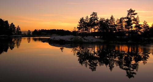 Sunset ice by ojjo