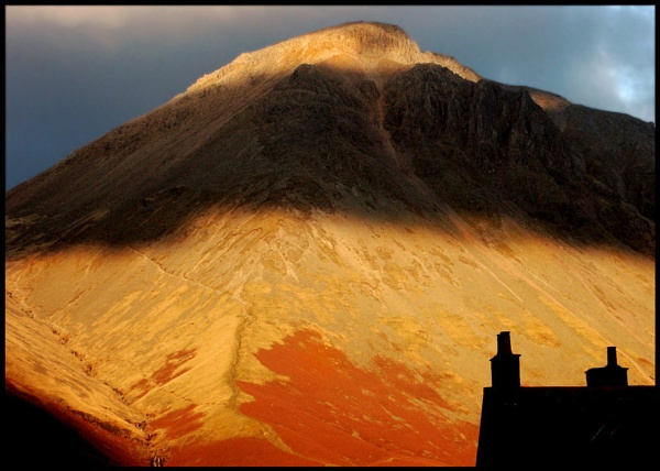 Great Gable at Sunset by ptilley