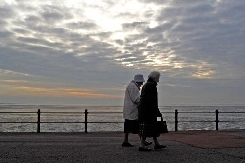 Two Ladies walking by victorburnside