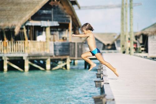 Unknown Boy Jumping (Maldives) by rlack