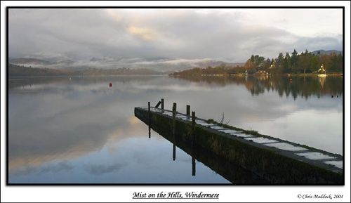 Mist on the Hills, Windermere by chris.maddock