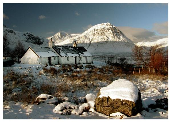 Blackrock Cottage snow by Scottishlandscapes