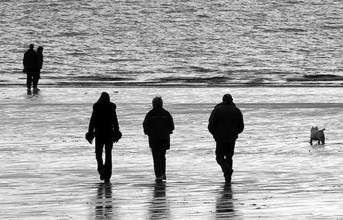 Winter beach by franken