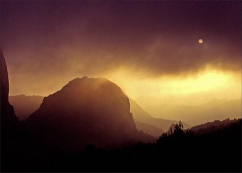 Spanish Mountains,Evening Mist by victorburnside