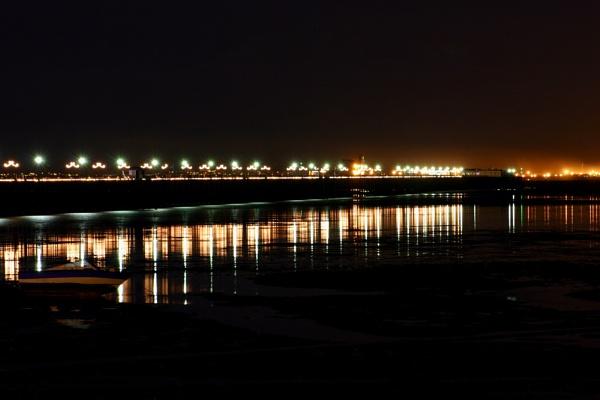 Southend Pier by night by NickCoker