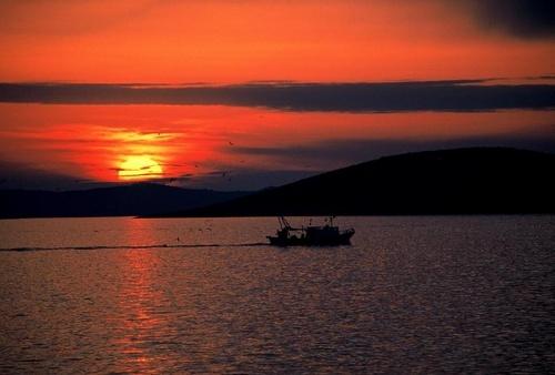 Sunset in Croatia-Murter Island by GregorP