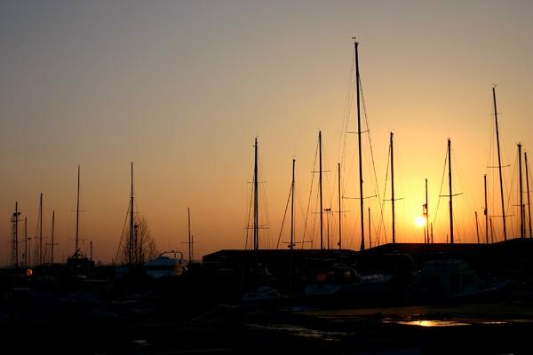 Dusk at the boatyard by NickCoker