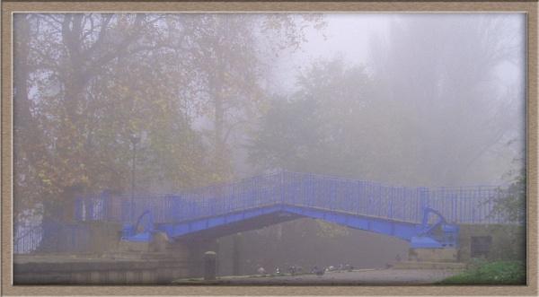 Blue Bridge, same foggy morning by Dinda