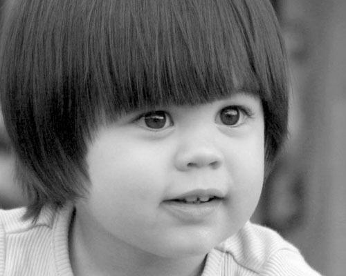 Serene child by Saran