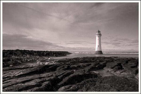 Monochrome New Brighton by stuwhitt