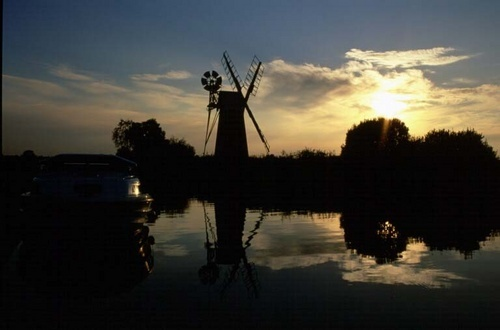 Norfolk Broads at Sunset by Base