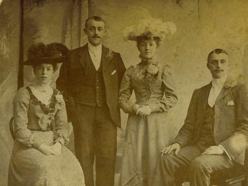 Wedding Day 1902 by debbiehardy